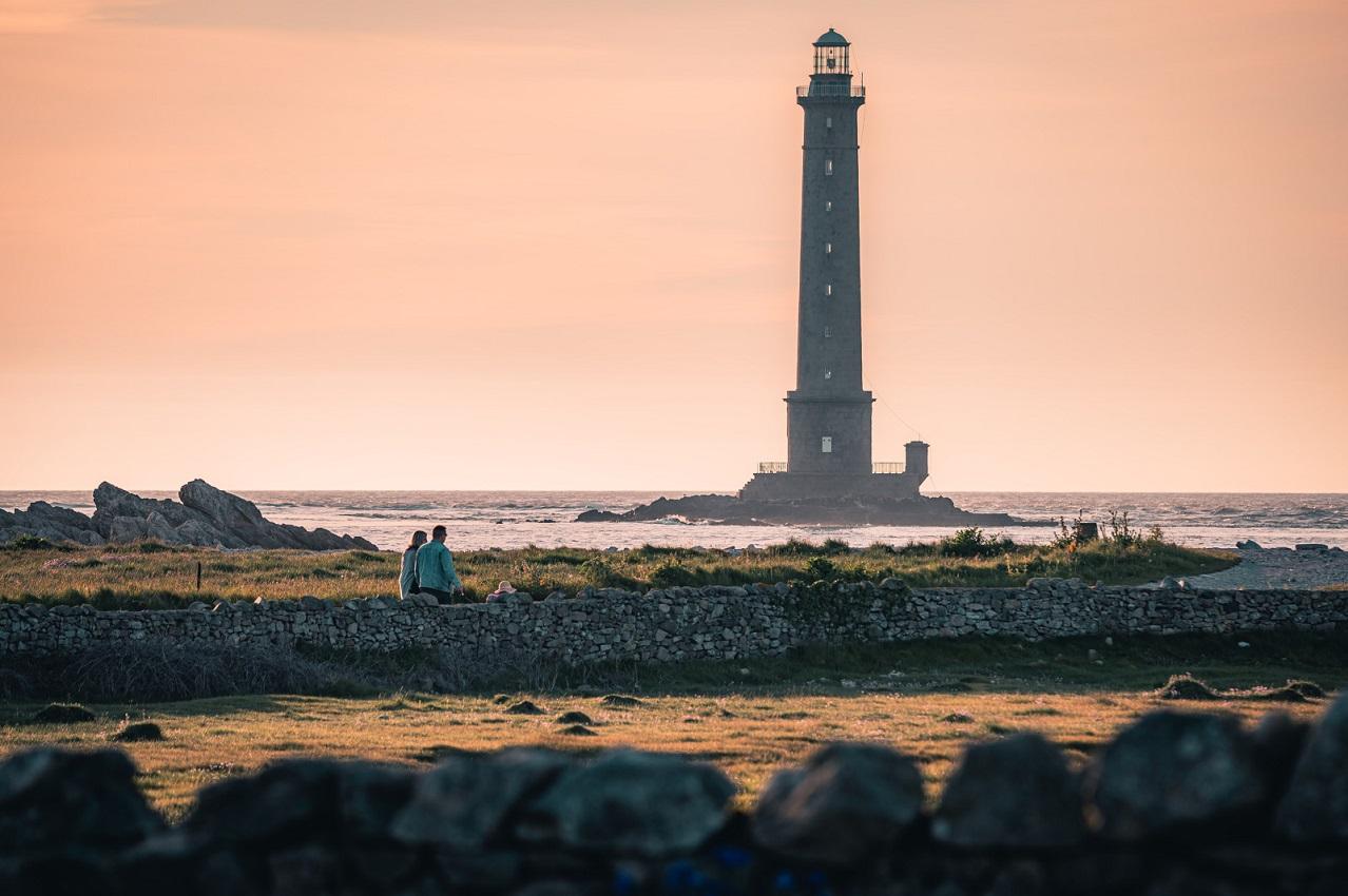 Leuchtturm von Goury in der Normandie